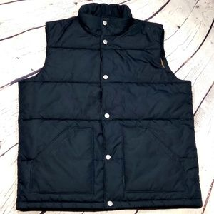 Lands End Mens black puffer vest size L
